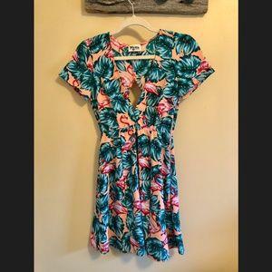 Show Me Your MuMu Flamingo Dress